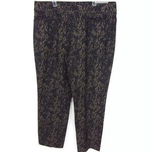 JM Collection Pants Slim Leg Animal Snakeskin -4